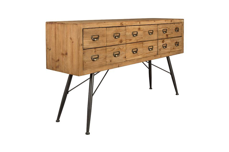 Buffet Six à tiroirs en bois - 11