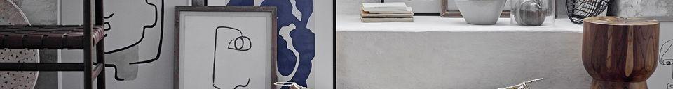Mise en avant matière Cadre Bourdic 52x72 cm en bois de pin