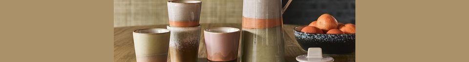 Mise en avant matière Cafetière en céramique 70's