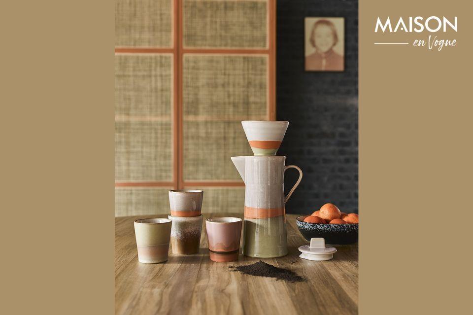 Cafetière en céramique 70's HK Living