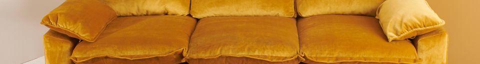 Mise en avant matière Canapé 3 places Vez coloris ocre