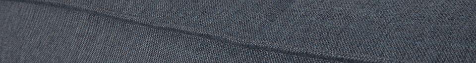 Mise en avant matière Canapé d'angle droit Fat Freddy gris bleu 81