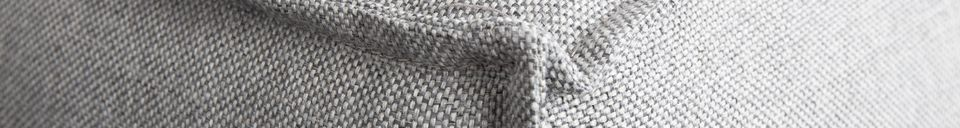 Mise en avant matière Canapé d'angle gauche Fat Freddy gris clair