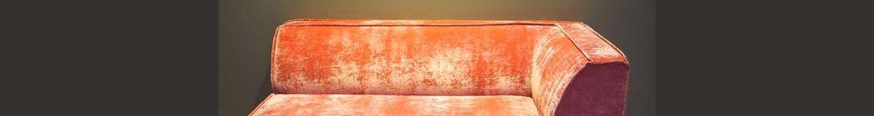 Mise en avant matière Canapé d'angle rose Floyd