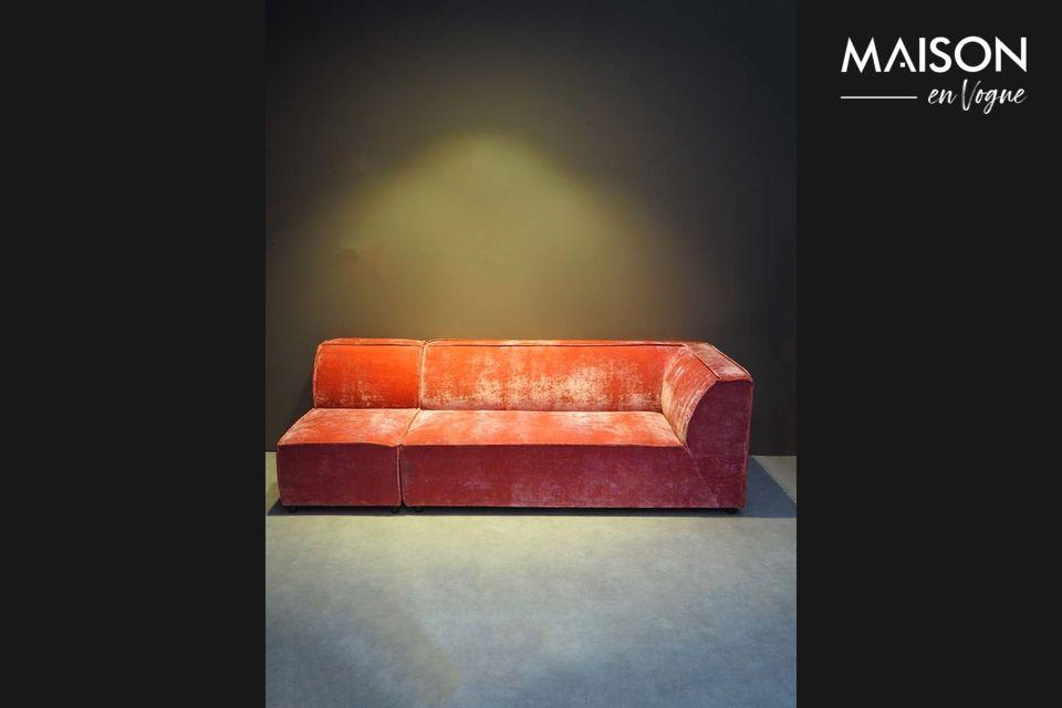 Canapé accoudoir gauche au look vintage