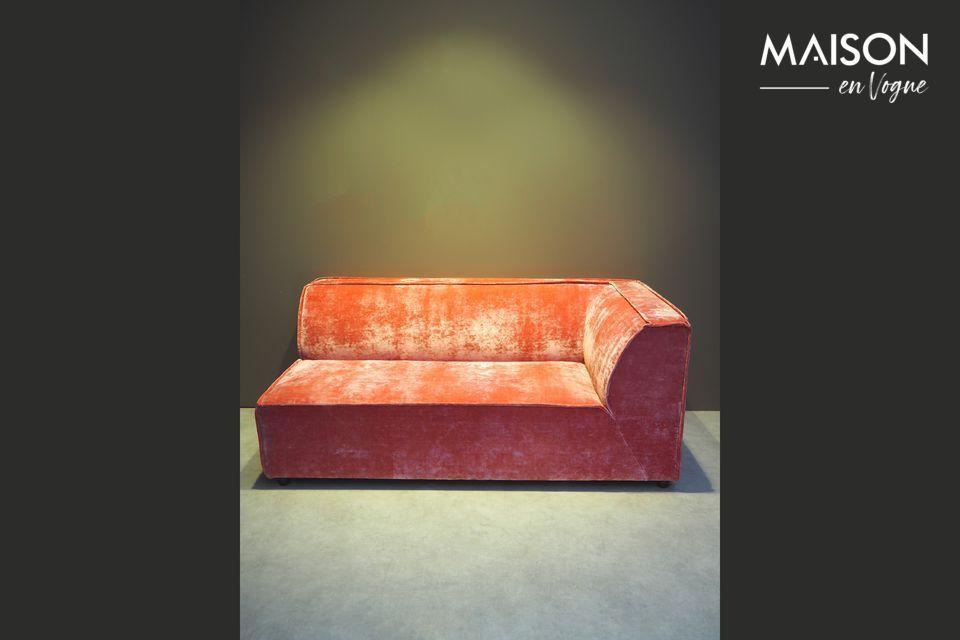Canapé d'angle rose Floyd Chehoma