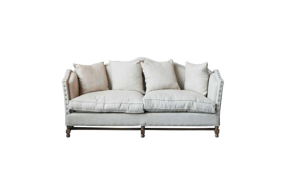 Canapé en lin Marie-Antoinette Chehoma
