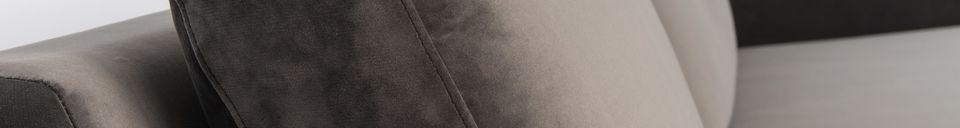 Mise en avant matière Canapé Fiep gauche en velours gris