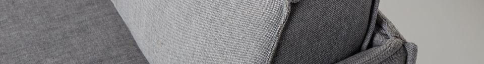 Mise en avant matière Canapé Jaey 2,5 places gris glair