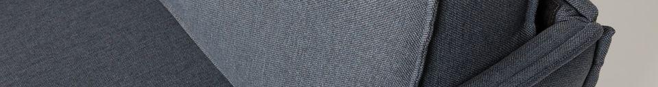 Mise en avant matière Canapé Jaey 3 places gris-bleu