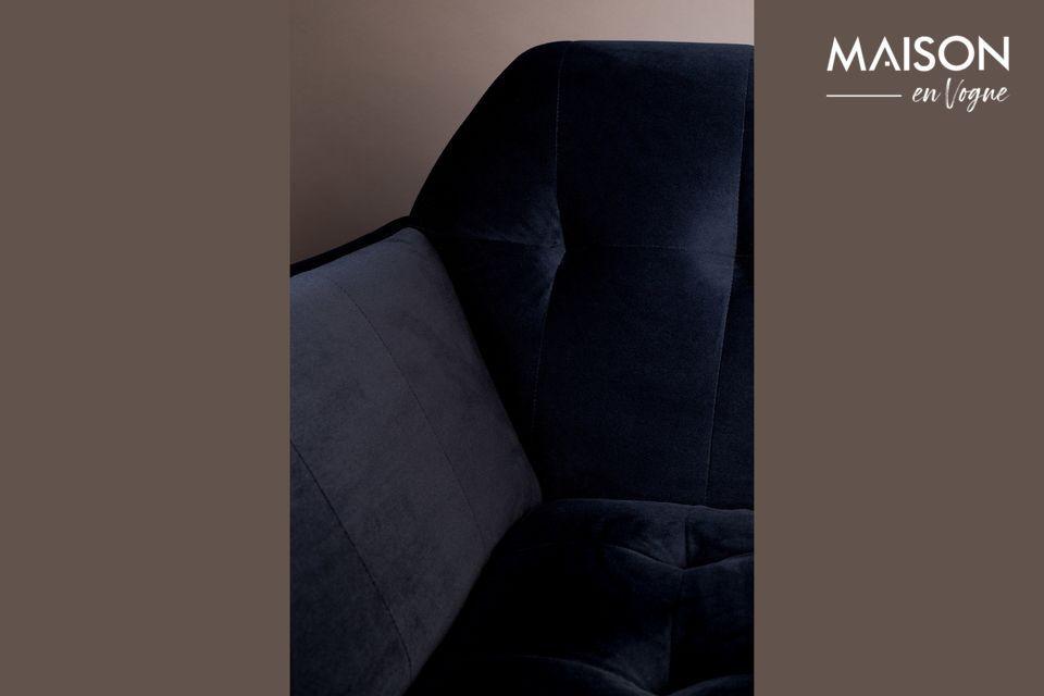 Raffiné jusqu\'au bout des pieds, ce canapé développe un look vintage d\'inspiration art déco