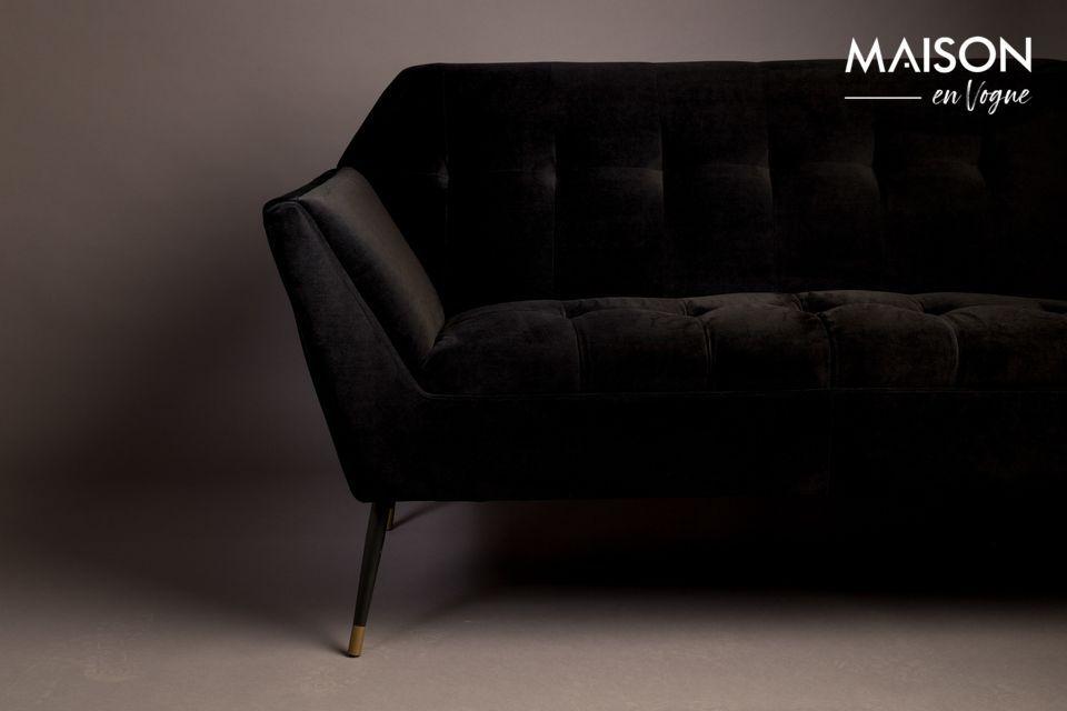 Ce petit canapé fixe à deux places