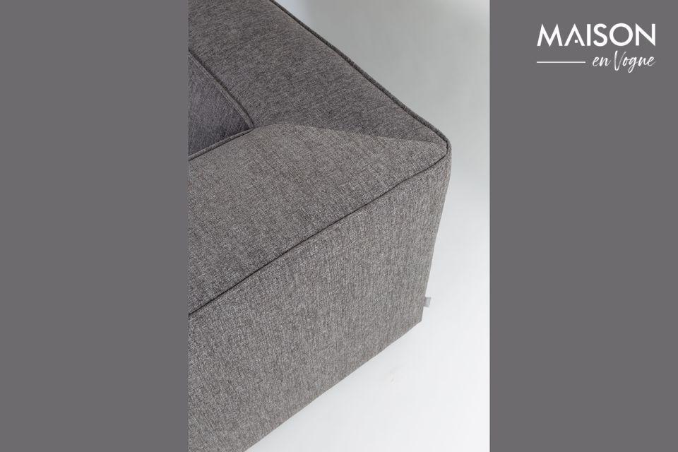 Le canapé King de couleur gris foncé