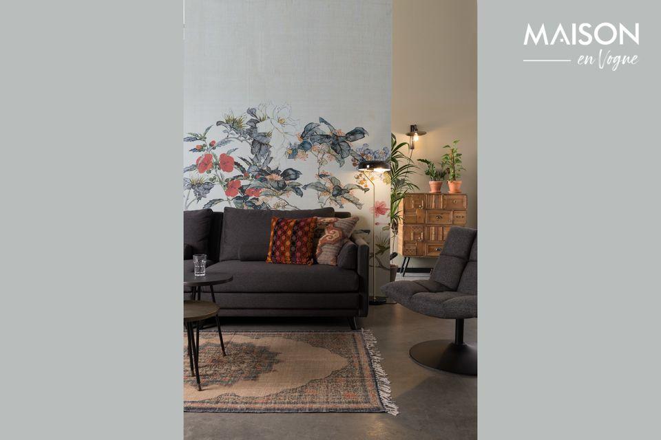 Canapé gris 3,5 places des plus élégants