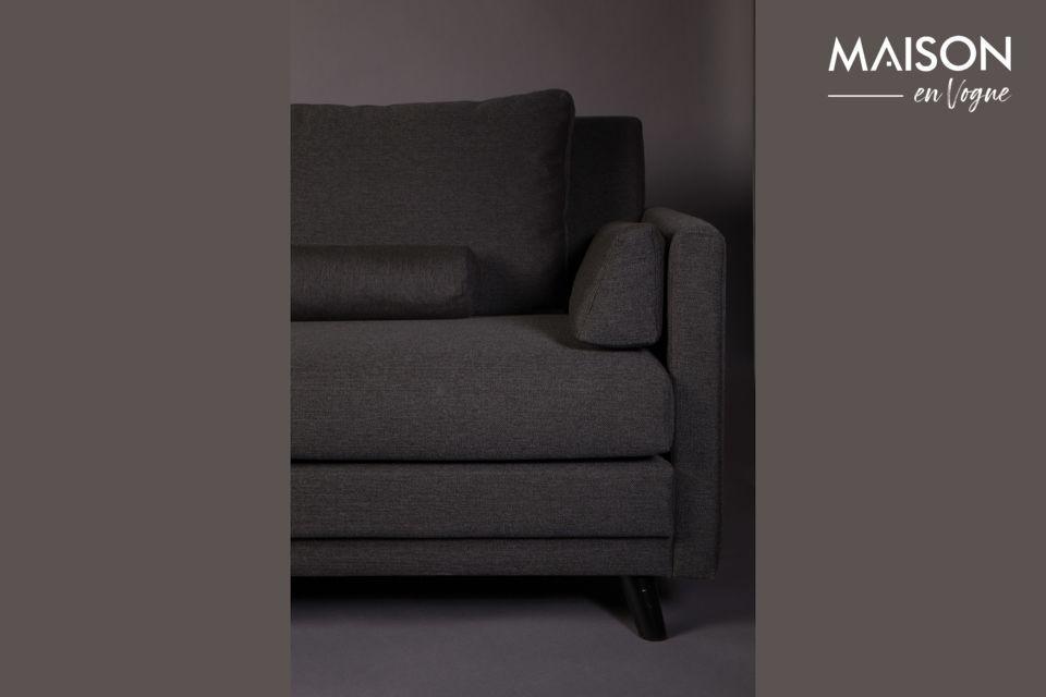 Ce canapé est fourni avec 6 coussins amovibles pour un maximum de confort