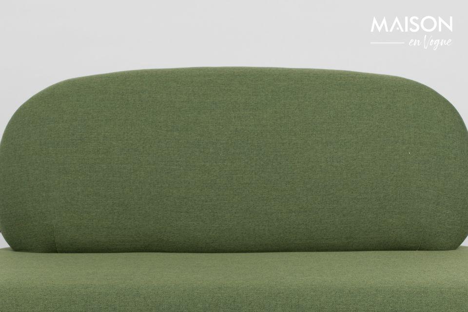 Le canapé Polly vert est parfait pour aménager votre salon dans un style scandinave