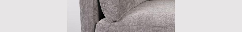 Mise en avant matière Canapé Summer 3 places gris anthracite
