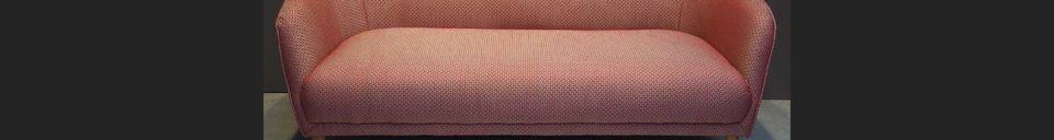 Mise en avant matière Canapé Tuileries en tissu Jacquard rouge