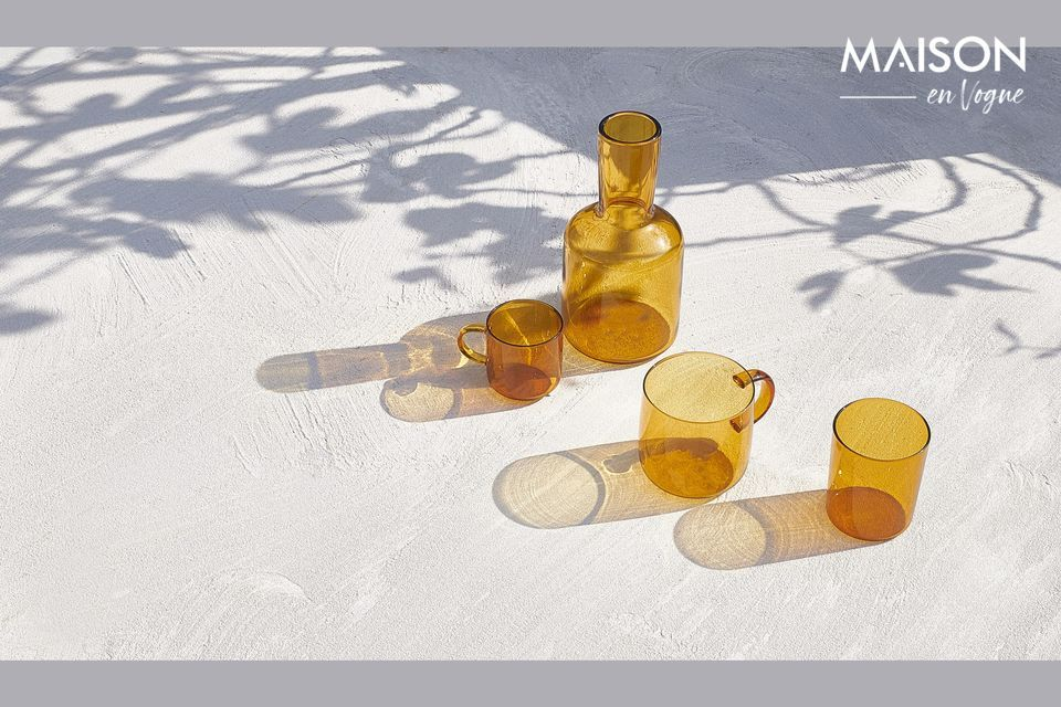 Duo en verre borosilicaté couleur ambre