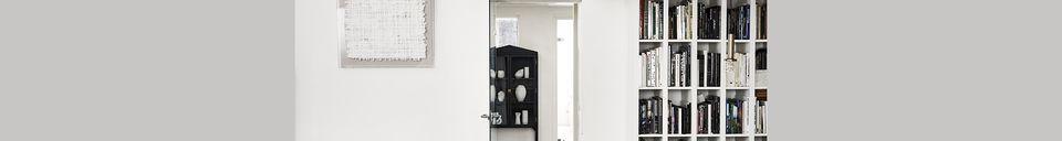 Mise en avant matière Chaise Altorf en fil métallique noir avec accoudoirs