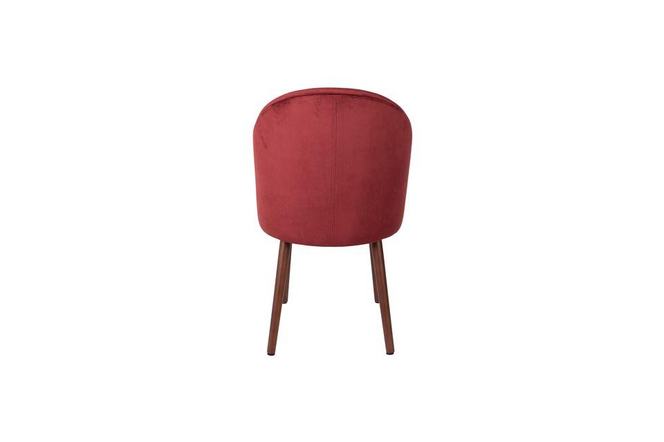 Chaise Barbara en velours rouge - 7