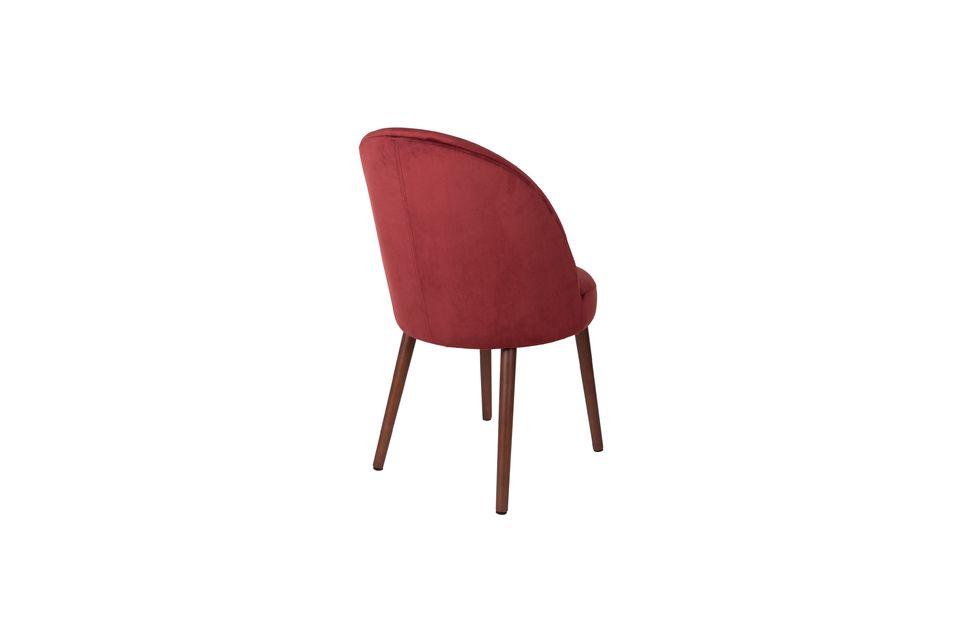 Chaise Barbara en velours rouge - 8