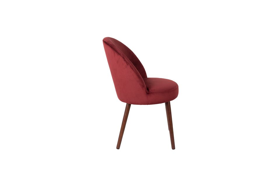 Chaise Barbara en velours rouge - 9