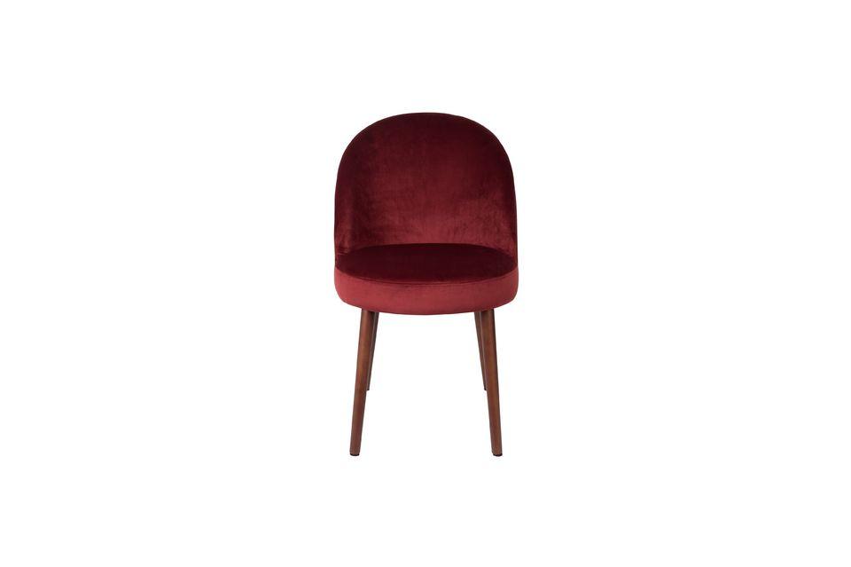 Chaise Barbara en velours rouge - 10