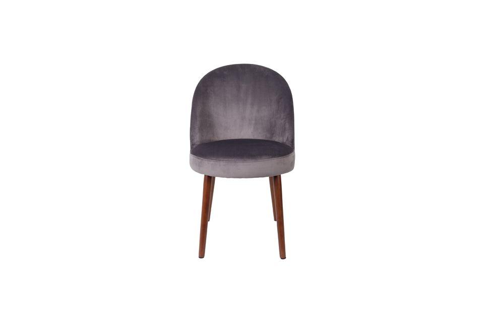 Chaise Barbara grise - 7