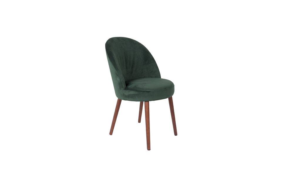 Chaise Barbara verte Dutch Bone