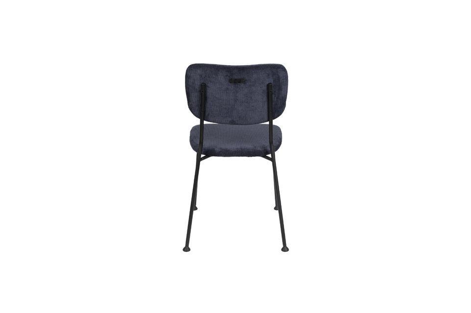 Chaise Benson bleu foncé - 6
