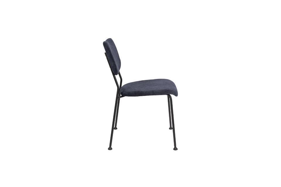 Chaise Benson bleu foncé - 8