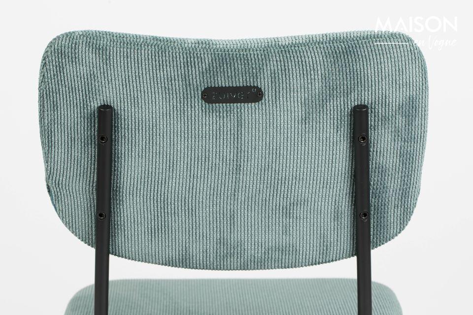 chaise benson gris-bleu - 4