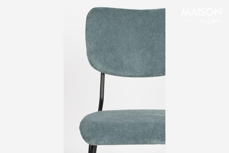 chaise benson gris-bleu - 5