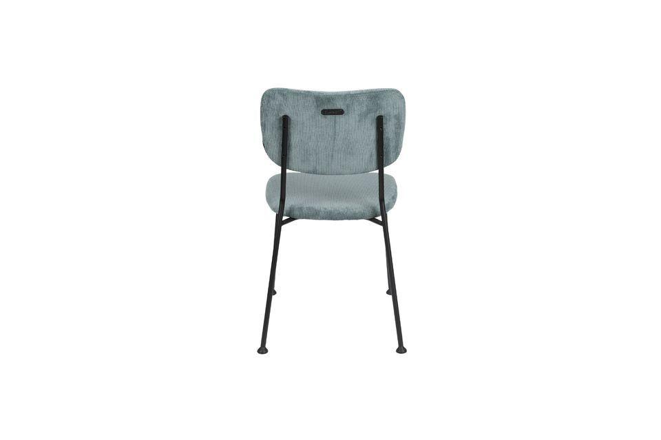 chaise benson gris-bleu - 6