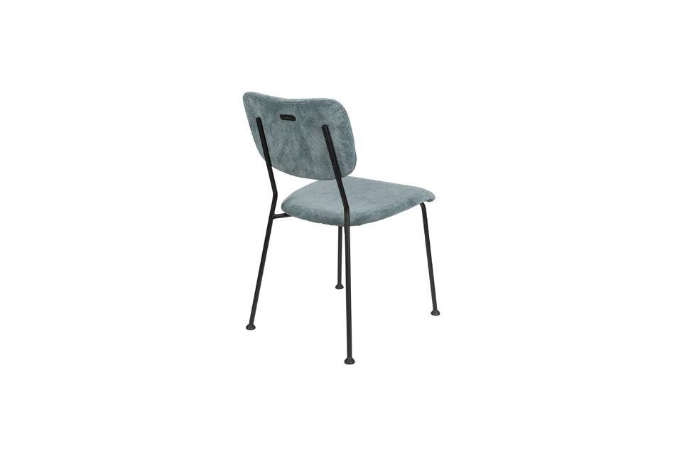 chaise benson gris-bleu - 7