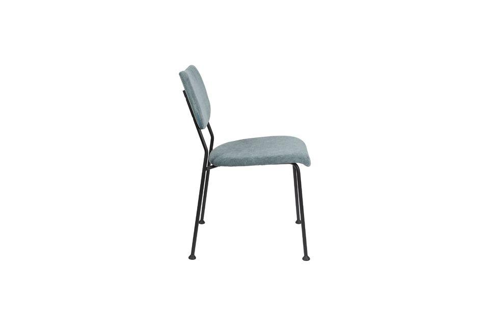 chaise benson gris-bleu - 8