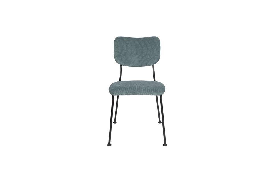 chaise benson gris-bleu - 9