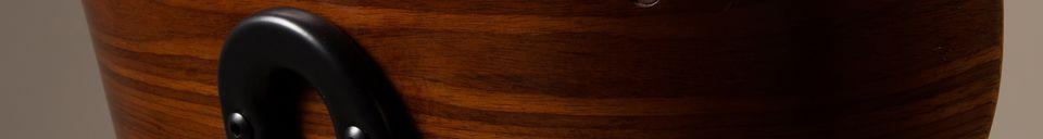 Mise en avant matière Chaise Black Wood marron et noire