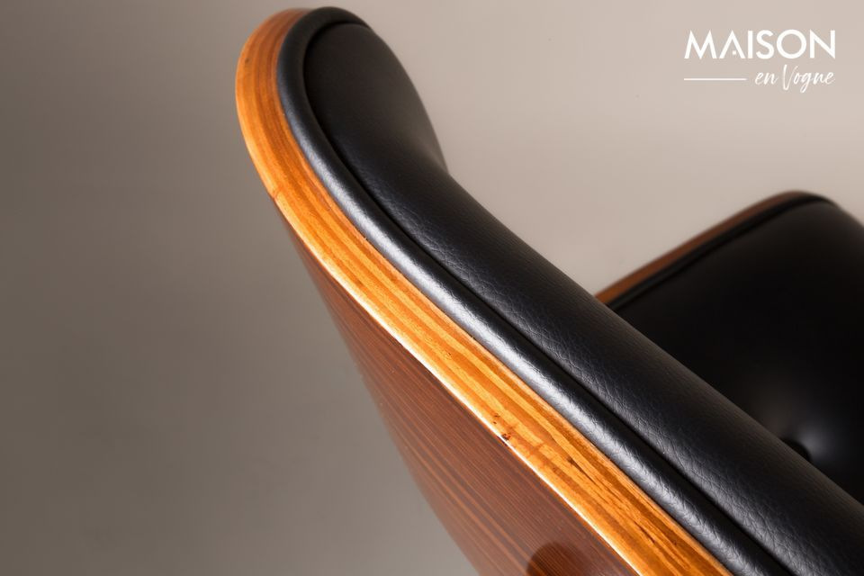 Chaise Black Wood marron et noire - 7