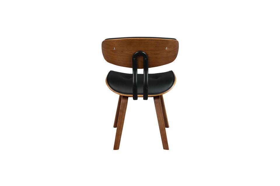 Chaise Black Wood marron et noire - 9