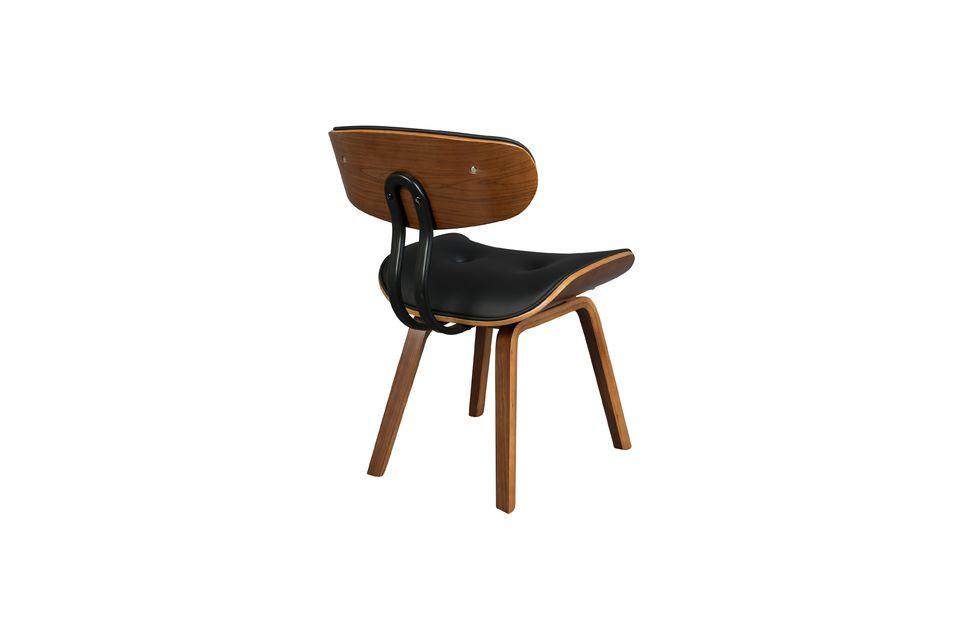Chaise Black Wood marron et noire - 10