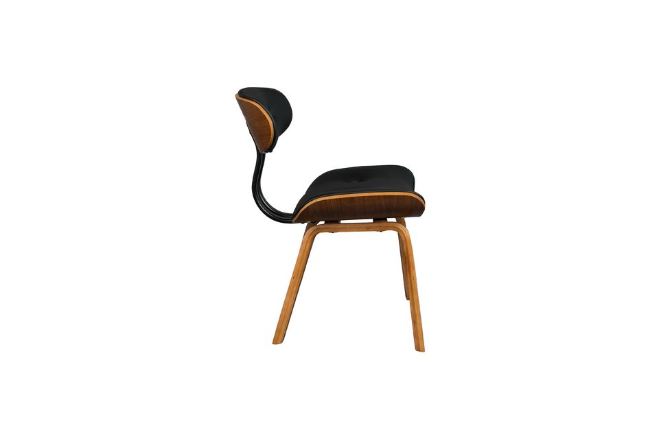 Chaise Black Wood marron et noire - 11