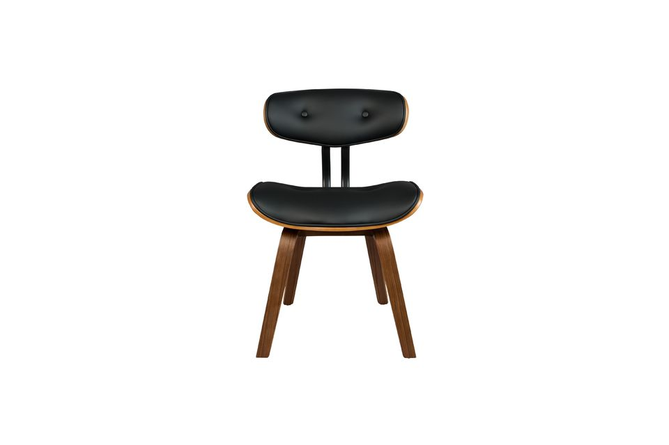 Chaise Black Wood marron et noire - 12