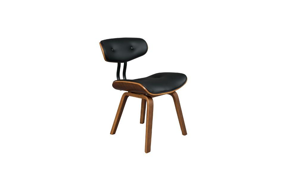 Chaise Black Wood marron et noire - 8