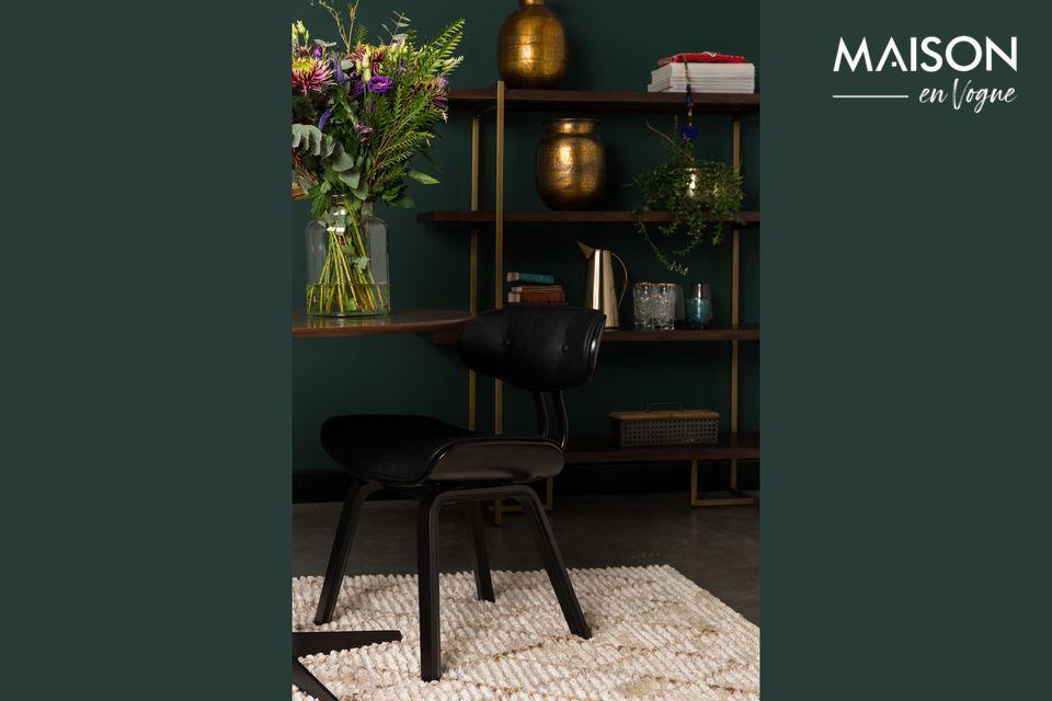 Chaise style lounge noire
