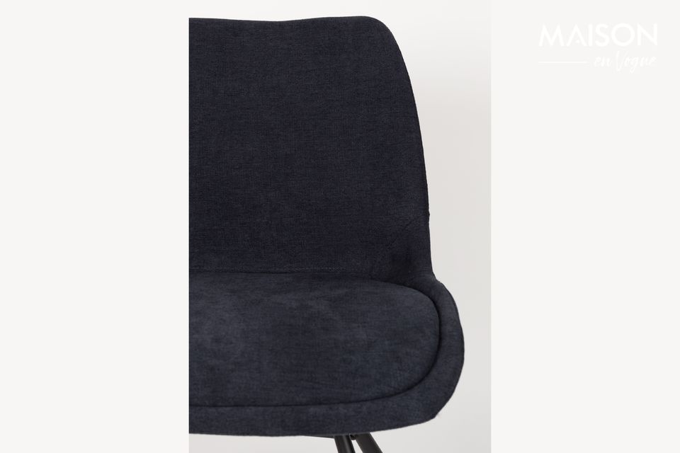 Chaise Brent bleu profond - 5