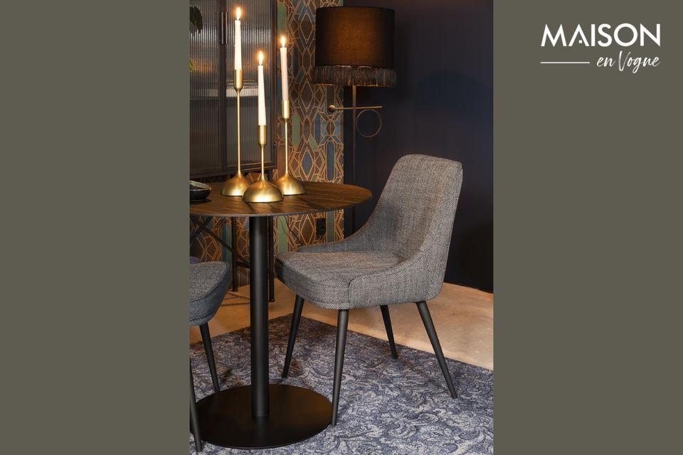 Chaise cosy Magnus couleur anthracite Dutch Bone
