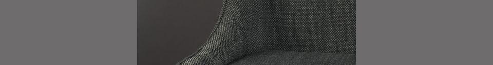 Mise en avant matière Chaise cosy Magnus couleur anthracite