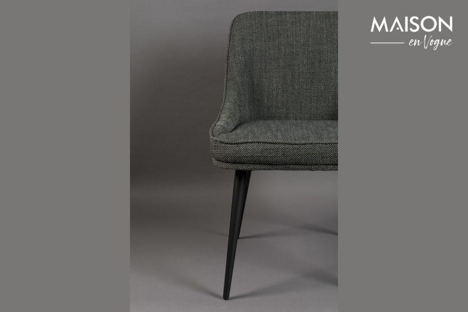 Chaise cosy Magnus couleur anthracite - 6